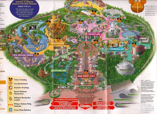 A map of the park for the party.
