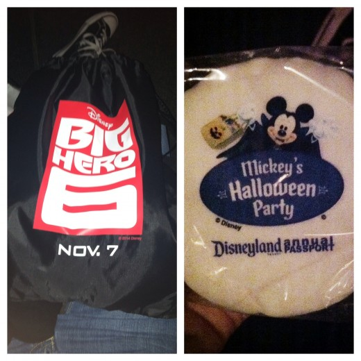 Here is the Big Hero 6 bag and the yummy rice crispy!