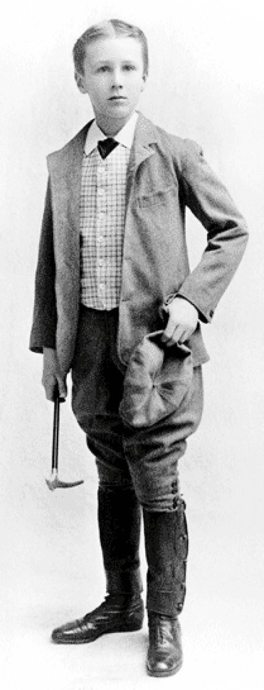 Franklin Delano Roosevelt in 1893.