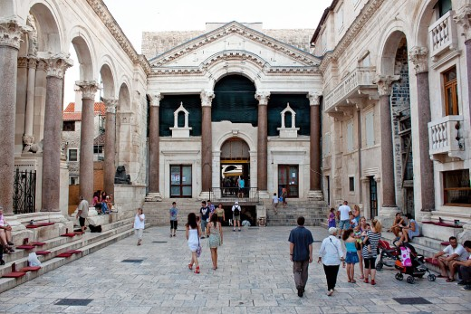 Diocletian's Palace in Split, Croatia