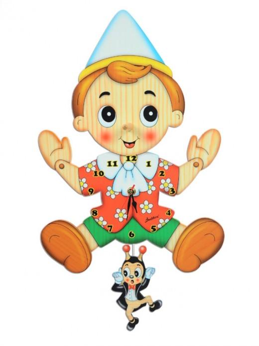 Clock Pinocchio of Bartolucci