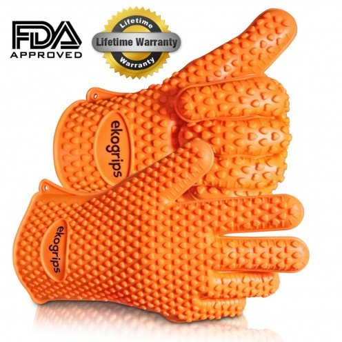 Highest Rated Heat Resistant Silicone BBQ Oven Gloves - The Original Ekogrips - 3 Sizes Available