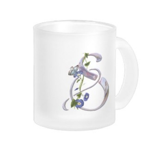 A personalized butterfly mug. You can find it by following the link in the text beside this image.