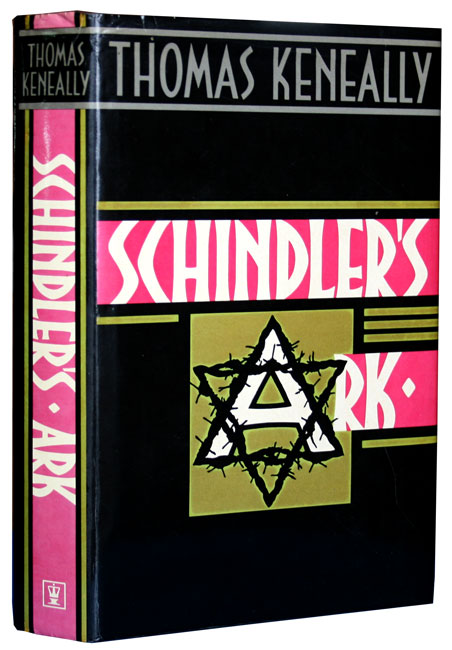 Book description from Global Books site: Keneally, Thomas. Schindler's Ark. PUBLISHED: London. Hodder & Stoughton. 1982. EDITION: First Edition BINDING: Original black cloth with dust wrapper. PRICE: U.S.$220