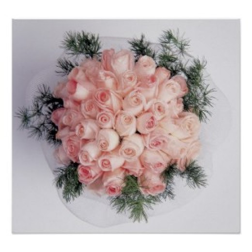 A romantic bridal bouquet for the bride posters and other items available by clicking the source link.
