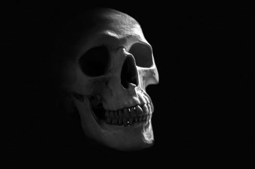 Universal symbol of death: Skull