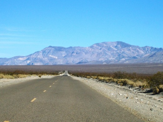 The Remote Trona-Wildrose Road in the Panamint Valley, CA