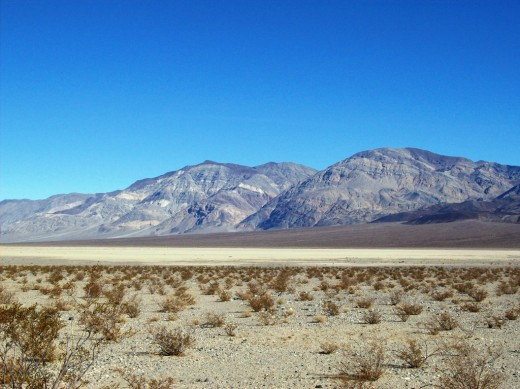 Panamint Mt Range with Panamint Dry Salt Lake