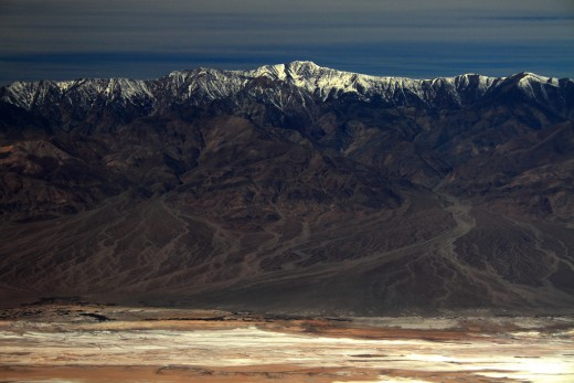 Panamint Range and Telescope Peak viewed from Death Valley