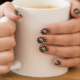 Leopard print nail art wraps and other items available by clicking the source link.
