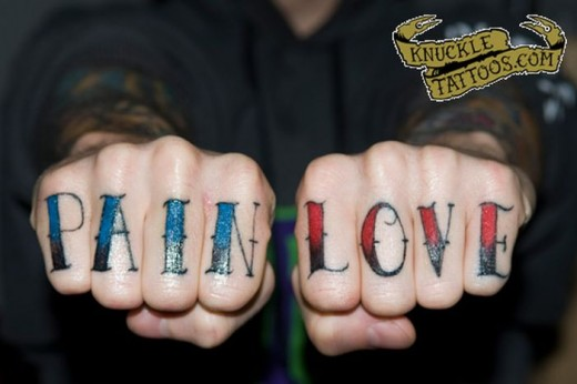 Although this is an awesome knuckle tattoo, you may not want it when meeting your future mother in law.