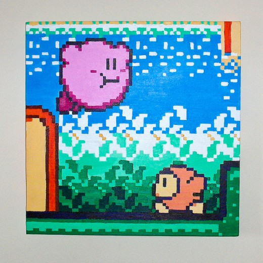 Kirby Game Play Painting
