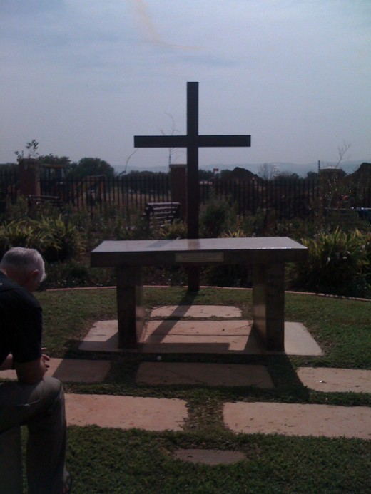 Prayer garden at Seth Mokitimi Methodist Seminary in KwaZulu Natal, South Africa.