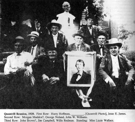 1920 reunion of William Quantrill's guerrilla's