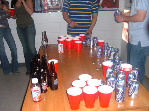 Beer Pong: One of the most popular drinking games among teens and college students.