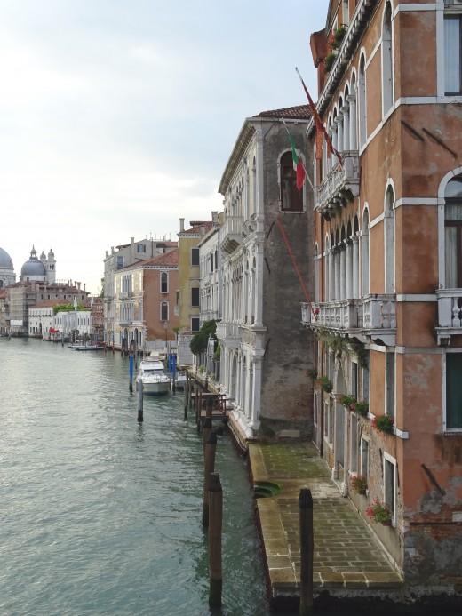 Along the Grand Canal in Venice