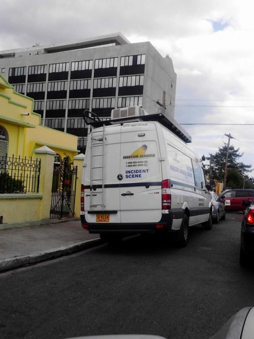 Jamaican independent commission  crime-scene vehicle