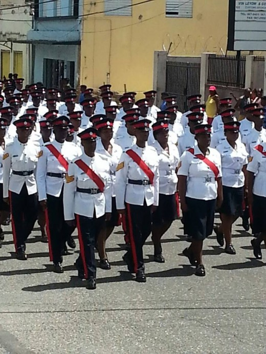 Members of the Jamaica Constabulary Force