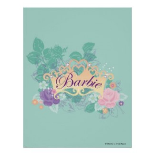 Barbie's crown with Roses print, posters and other items available by clicking the source link.
