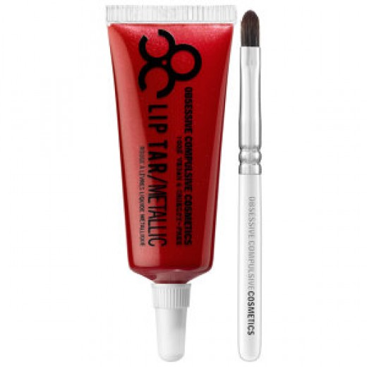 OCC Lip Tar: Role Play. Deep maroon with red pearl.