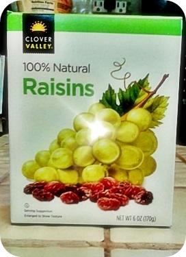 100% Raisins.