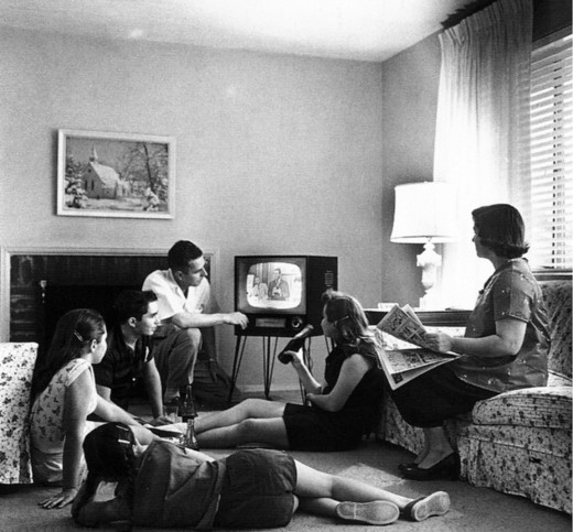 "Oh, how times have changed. Its always been a tradition to gather around the TV to watch a good film (at least, since TV's were invented, and of course, films). Luckily, today we have ""Netflix"" to enhance the film-watching experience at home."