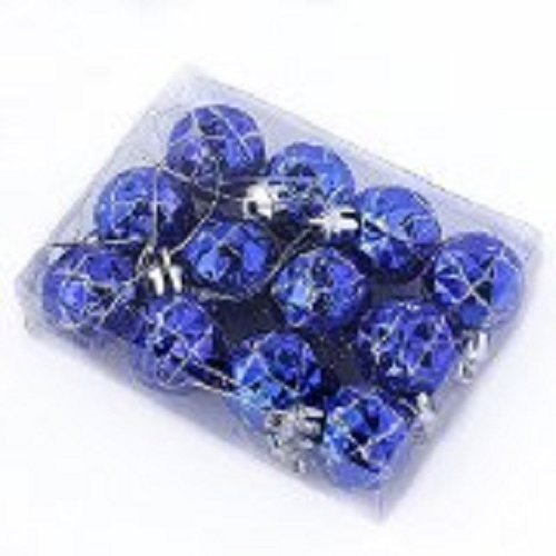 Blue, Unbreakable Christmas Ornaments make beautiful decorations.