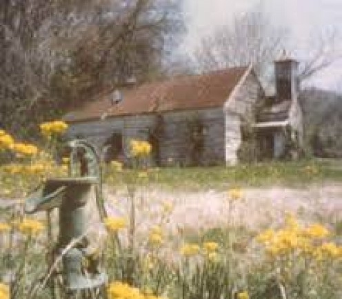 Abandoned rural church house