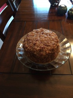 Holiday Baking - Coconut Pecan Frosting for German Chocolate Cake