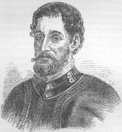 Hernando de Soto was a Spanish explorer and conquistador who led the first European expedition into Florida.  He was also the first European to cross the Mississippi River.