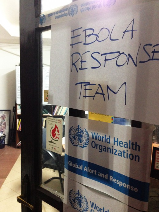 A photograph of one of the World Heath Organisation's Ebola Response Team sites