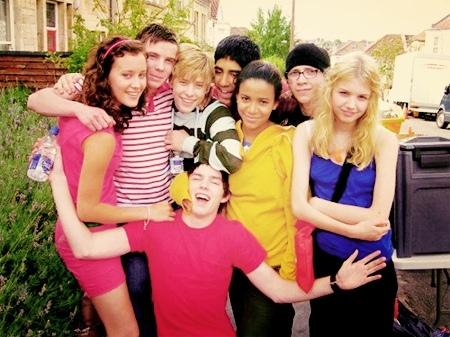 The original Skins cast in 2007.