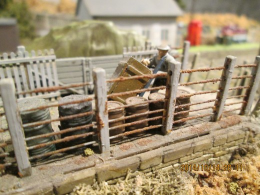 At Ayton Lane's erstwhile cattle/sheep dock a porter heaves a barrow with a heavy crate to be collected by the next outward wagons or vans