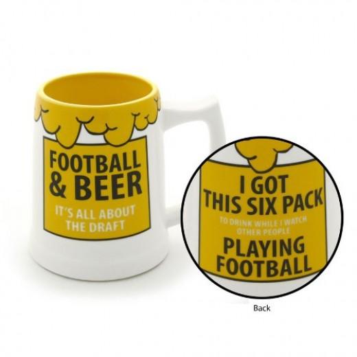 Football Beer Stein