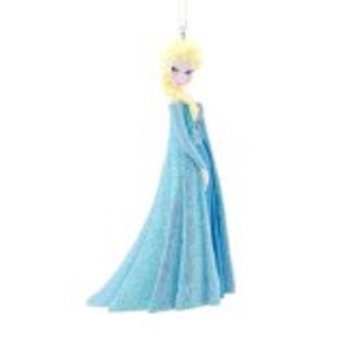 This is a beautiful Christmas ornament of Elsa.