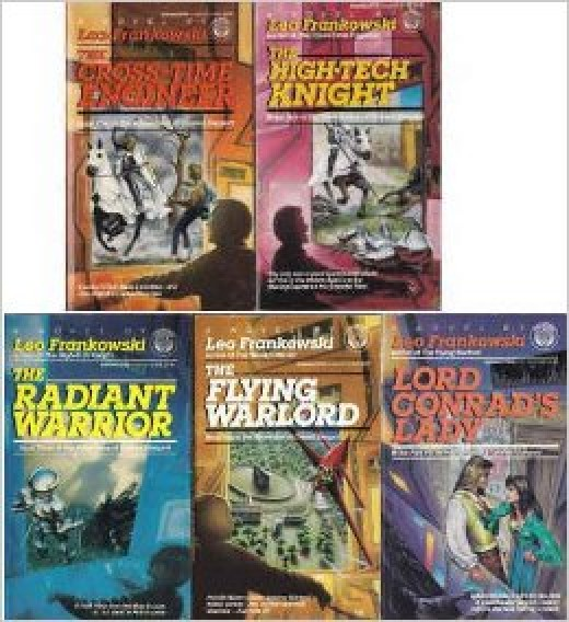Covers of the five principal books of the Conrad Stargard series