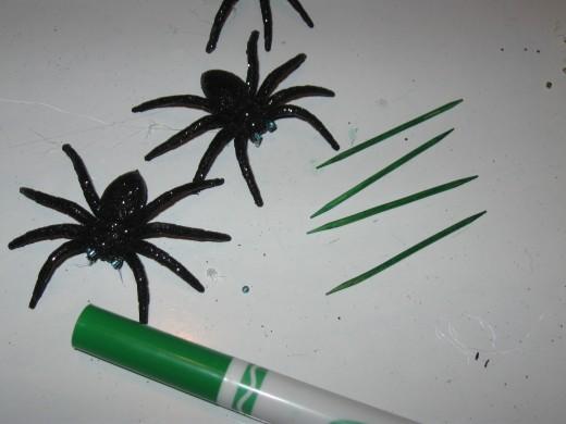DIY seasonal wreath spikes