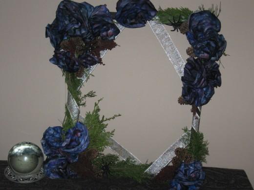 Square wreath craft result