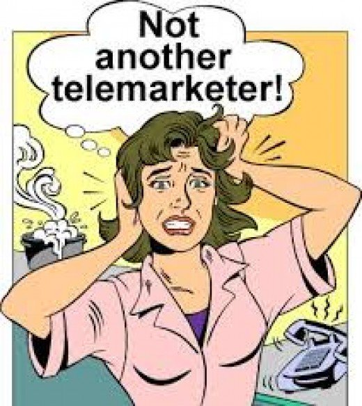 Typical reactions to telemarketers.