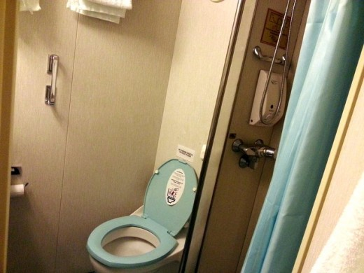 Toilet for our cabin on Superstar Libra