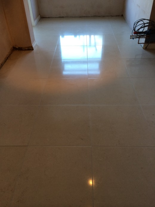 Limestone Floor Cleaned and Polished