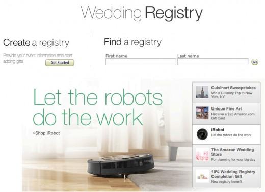 Start your Amazon Wedding Registry today.