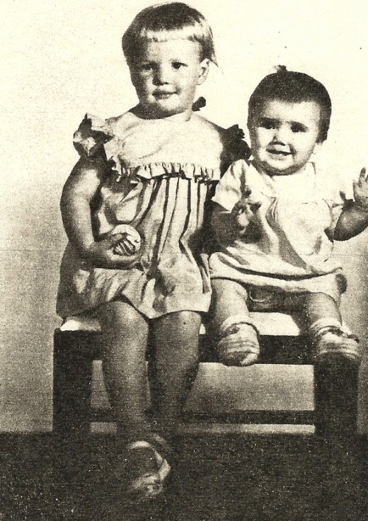 Here I am with my sister. Not really that chubby, just well-fed children.