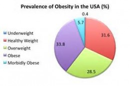 The United States is leading in the obesity problem.