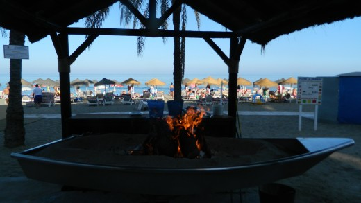 Sardines are popular on the fire by beach