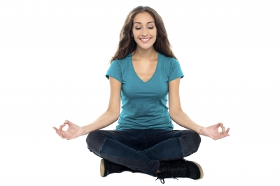 Young Girl Practicing Yoga Mudra
