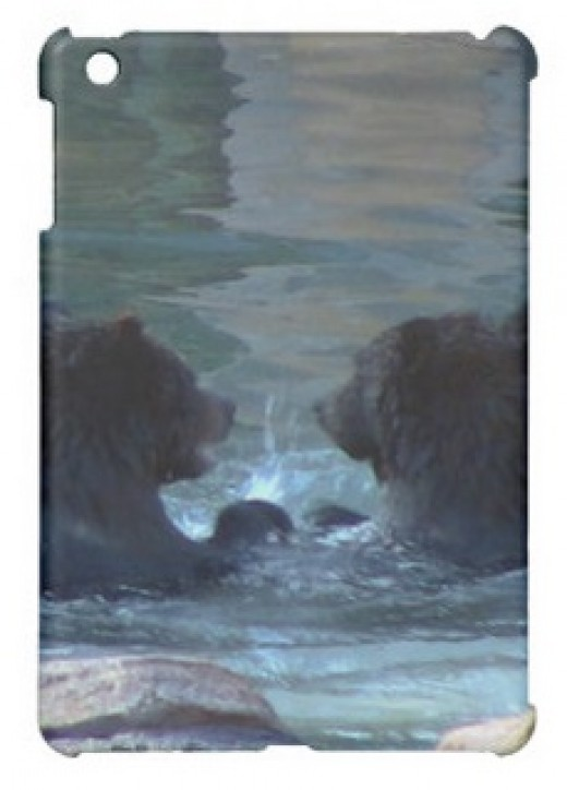 Grizzly Bears Swimming Party iPad Case