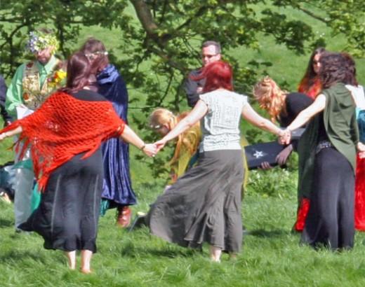 A pagan handfasting ritual.