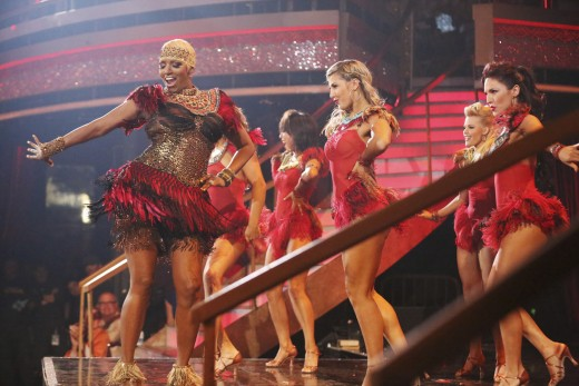 Nene Leakes on Dancing with the Stars, May, 2014.