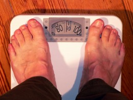 Stepping on the scale . . .